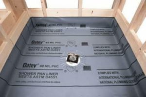 Example of a shower pan liner